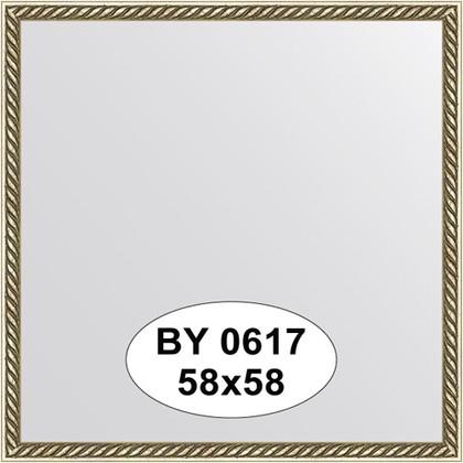 Зеркало 58x58см в багетной раме витая латунь Evoform BY 0617