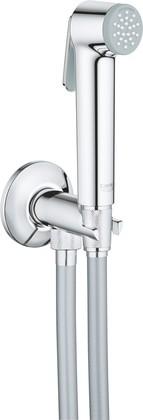 Гигиенический душ Grohe Tempesta-F с вентилем, шланг, Silverflex Longlife 1000мм, хром 26358000