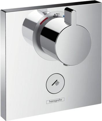 Наружная часть термостата для душа Highflow с запорным клапаном, хром Hansgrohe ShowerSelect 15761000