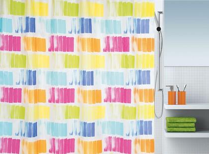 Штора  для ванной комнаты 180x200см текстильная  Spirella PITTORE 1017946