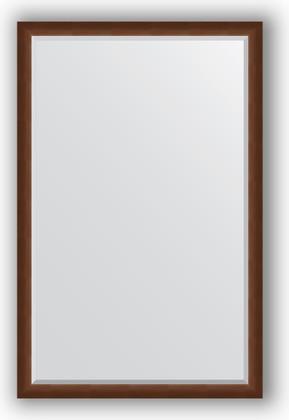 Зеркало 112x172см с фацетом 25мм в багетной раме орех Evoform BY 1217