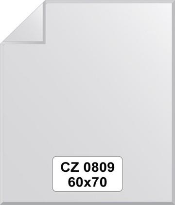 Зеркало для ванной 60x70см с фацетом и декором FBS CZ 0809