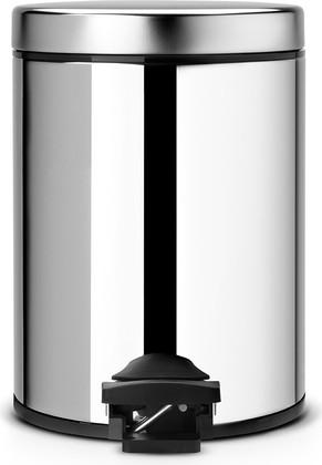 Бак для мусора 5л с металлическим внутренним ведром и педалью сталь полированная Brabantia 246920