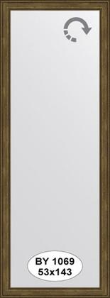 Зеркало 53x143см в багетной раме сухой тростник Evoform BY 1069