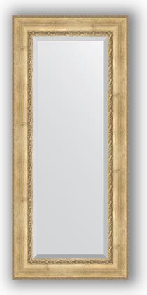Зеркало с фацетом в багетной раме 67x152см состаренное серебро с орнаментом 120мм Evoform BY 3558
