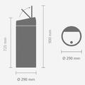 Ведро для мусора 30л лазурное Brabantia Touch Bin 481925