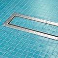 Дизайн-решетка стальная матовая под плитку, 800мм Viega Advantix Visign ER4 589578