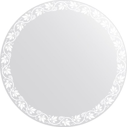 Зеркало для ванной с орнаментом диаметр 80см FBS CZ 0758