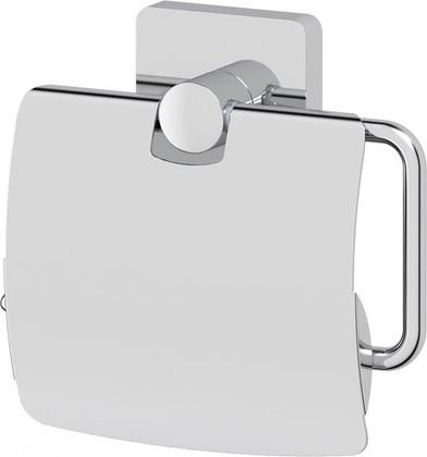 Держатель для туалетной бумаги Ellux, с крышкой, хром AVA 066