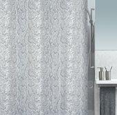 Штора для ванны 180x200см текстильная серая Spirella SNAKE 1016321
