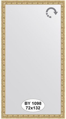 Зеркало 72x132см в багетной раме сусальное золото Evoform BY 1098