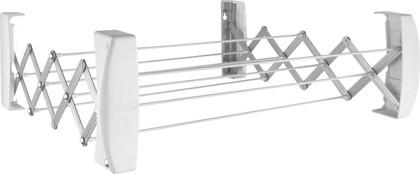 Сушка для белья настенная раздвижная белая Leifheit Teleclip 60 83303