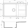 Кухонная мойка Omoikiri Sumi 86-EV с крылом, tetogranit, эверест 4993652