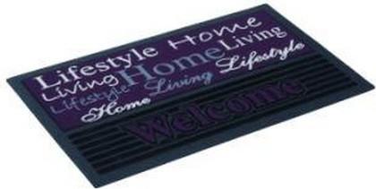 Коврик придверный 40x68см для улицы фиолетовый, резина/полиамид Golze FASHION 433-15-01