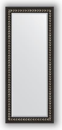 Зеркало 65x155см с фацетом 30мм в багетной раме чёрный ардеко Evoform BY 1185