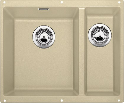 Кухонная мойка без крыла, основная чаша слева, с клапаном-автоматом, гранит, шампань Blanco Subline 340/160-U 513954