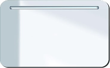 Зеркало с подсветкой 100x60cм, белый глянцевый Duravit PuraVida 942285