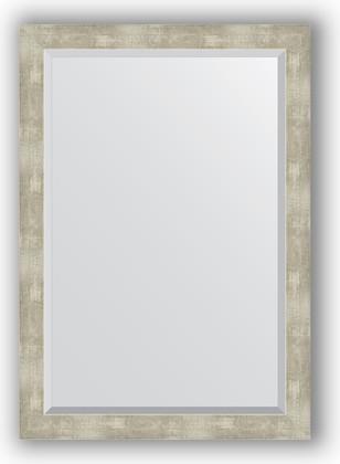 Зеркало 71x101см с фацетом 30мм в багетной раме алюминий Evoform BY 1199