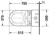 Чаша напольного унитаза, выпуск Vario Duravit STARCK 3 2141590000