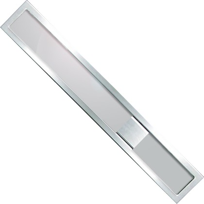 Дизайн-решетка из прозрачного светло-серого стекла и рамы из нержавеющей стали, 800мм Viega Advantix Visign ER9 616939