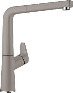 Смеситель кухонный однорычажный с высоким, выдвижным изливом, SILGRANIT серый беж Blanco AVONA-S 521283