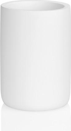 Стакан для зубных щёток Andrea House матовый белый BA18233