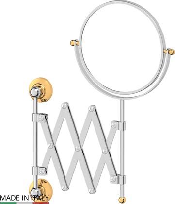 Зеркало косметическое, хром золото 3SC STI 120