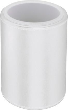 Стакан настольный круглый, матовое акриловое стекло / белая экокожа Colombo Black&White B9231.EPB