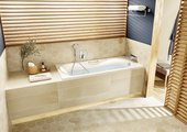 Прямоугольная чугунная ванна 160x75см белая, antislip Roca Malibu 231060000