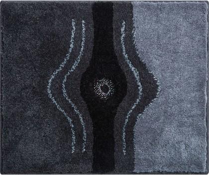 Коврик для ванной Grund Crystal, 50x60см, полиакрил, с кристаллами Сваровски, антрацит b2440-604068