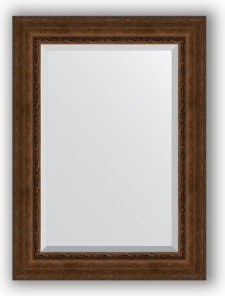 Зеркало с фацетом в багетной раме 82x112см состаренная бронза с орнаментом 120мм Evoform BY 3481