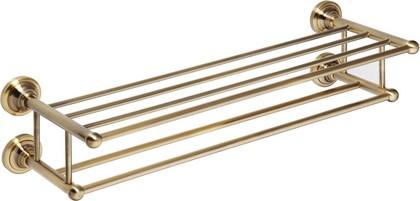 Полка для полотенец двойная 600мм, бронза, Bemeta 144102257