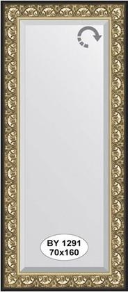 Зеркало 70x160см с фацетом 30мм в багетной раме барокко золото Evoform BY 1291