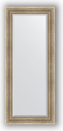 Зеркало 62x147см с фацетом 30мм в багетной раме травлёное серебро Evoform BY 1268