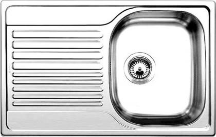 Кухонная мойка оборачиваемая с крылом, нержавеющая сталь полированная Blanco Tipo 45 S Compact 513442