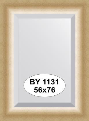 Зеркало 56x76см с фацетом 30мм в багетной раме травлёное золото Evoform BY 1131
