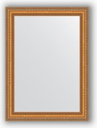 Зеркало в багетной раме 55x75см золотые бусы на бронзе 60мм Evoform BY 3042