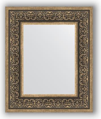 Зеркало в багетной раме 49x59см вензель серебряный 101мм Evoform BY 3032