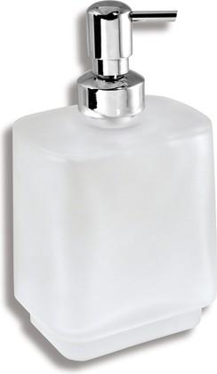 Дозатор для жидкого мыла Novaservis Metalia-4, стекло, отдельностоящий, хром 6450/1.0