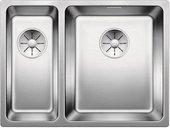 Кухонная мойка Blanco Andano 340/180-IF, чаша справа, отводная арматура, полированная сталь 522973