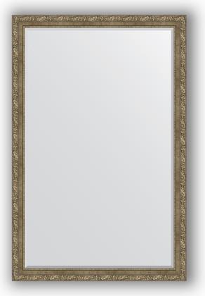 Зеркало с фацетом в багетной раме 115x175см виньетка античная латунь 85мм Evoform BY 3619