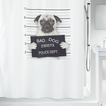 Штора для ванны 180x200см, текстиль Spirella Bad Dog 1018470