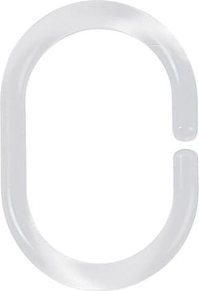 Кольца для штор Spirella C-Minor, 12шт., прозрачные 1040076