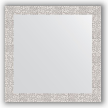 Зеркало в багетной раме 76x76см соты алюминий 70мм Evoform BY 3243