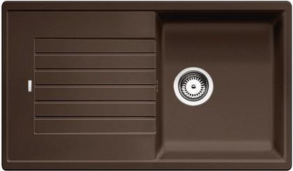 Кухонная мойка оборачиваемая с крылом, гранит, кофе Blanco Zia 5 S 520519