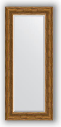 Зеркало с фацетом в багетной раме 59x139см травленая бронза 99мм Evoform BY 3524