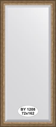 Зеркало 72x162см с фацетом 30мм в багетной раме старая бронза Evoform BY 1208