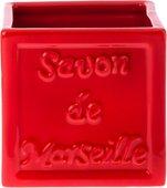 Стакан для зубных щёток Spirella Savon De Marseille красный 4007272