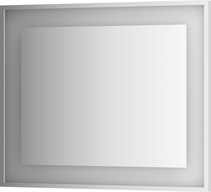 Зеркало 90x75 в багетной раме со встроенным LED-светильником Evoform BY 2204