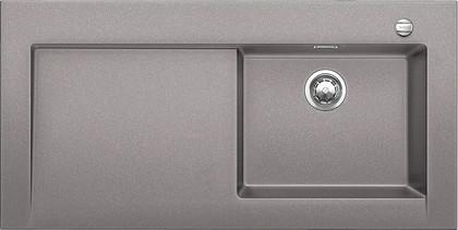 Кухонная мойка крыло слева, с клапаном-автоматом, гранит, алюметаллик Blanco Modex-M 60 518330